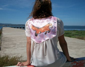 Painted white with animal short sleeve shirt