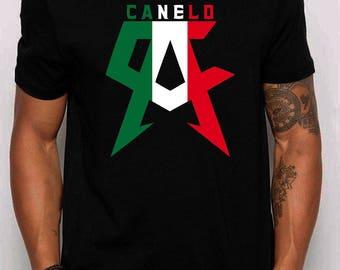 Canelo Alvarez Mexican Flag Tshirt Unisex Adult T-Shirt