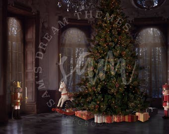 Nutcracker Digital Background, Nutcracker Backdrop, Christmas Backdrop, Ballet Background, Ballet Backdrop, Christmas Background, Rat King