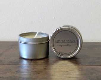 Bartlett Pear 2 oz Soy Candle Tin, Mini Candles, Scented Soy Candles, Hand Poured Candles, Soy Wax Candles, Modern Farmhouse Decor