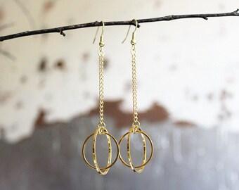 Eve Earrings, Gold Drop Earrings