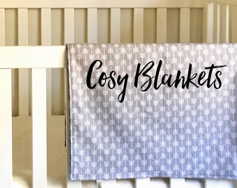 Cosy Blanket // Baby Blanket // Swaddle // Tummy Time Mat // Flannelette // Pram Blanket // Nursery Throw