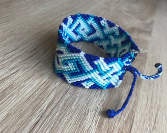 Handmade blue macrame bracelet