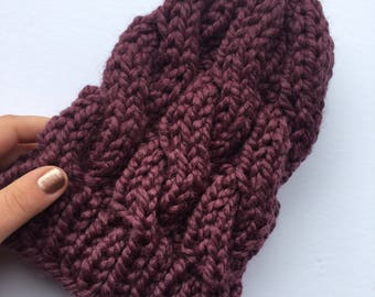 KATE Hat in Fig | Cozy | Chunky Knit Hat