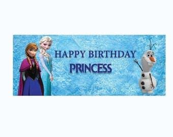 Frozen printable banner/frozen digital/frozen party supplies/frozen theme/frozen birthday supplies/frozen decoration/frozen supplies