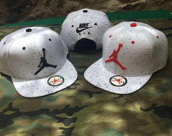 Jordan Snapback Hat Cap Beretto grid White Men Women Summer Hip Hop Trap