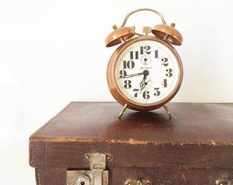 Alarm clock / Vintage / JERGER / copper