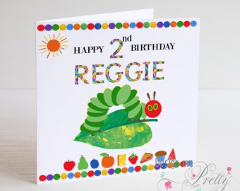 Personalised The Very Hungry Caterpillar Children's Birthday Card