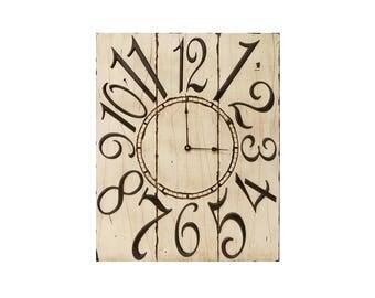 """18"""" x 24"""" Classic Rectangle Wall Clock // Custom Wall Clock"""