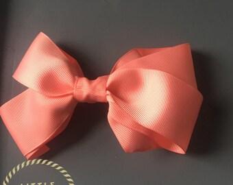 Grosgrain hair bow 38mm, hair bows, bows, Hair bow, Hair bow clips, Hand crafted hair bows, Girls hair bows,
