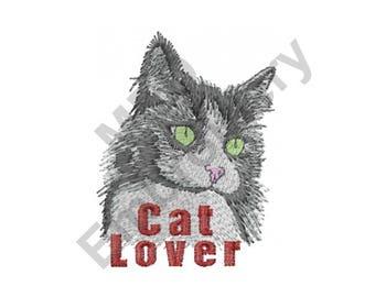 Cat - Machine Embroidery Design, Cat Lover