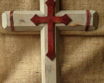 Hand made wooden crosses