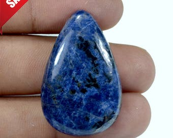 Amazing Natural Blue Sodalite pear Cabochon Loose Gemstone Size 37X24X7 mm, loose gemstone 45 cts Smooth cabochons