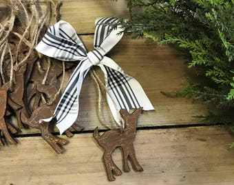 Reindeer Ornaments gift tags