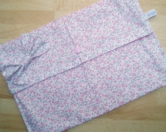 Pocket diapers and wipes in shades of pink cotton