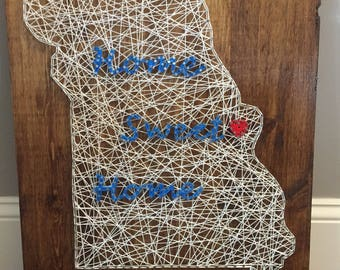 State String Art Wall Decor