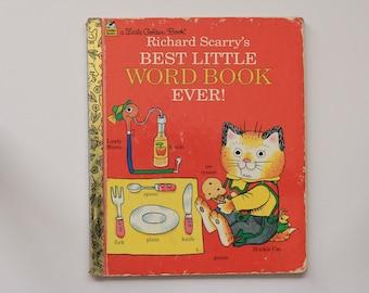 Vintage 1992 Edition 'Richard Scarry's Best Little Word Book Ever!' Little Golden Book