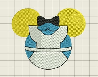 Disney Alice In Wonderland Mickey Mouse Ears Embroidery File