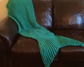 Teal Adult Mermaid Blanket