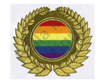Gay Pride Flag - Machine Embroidery Design
