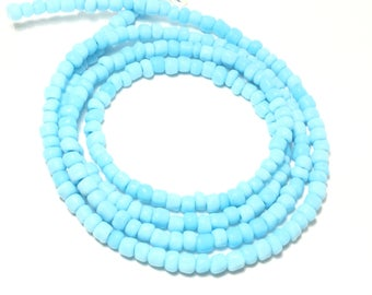 Light Blue African Waist Beads