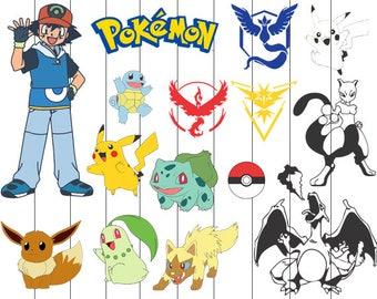 Pikachu svg, pokemon svg, pokemon layers svg, files for silhouette, pokemon file png dxf eps, pokemon png, pokemon clipart, clipart pikachu