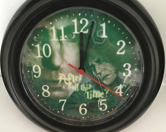 Harry Potter - Slytherin - Severus Snape Wall Clock