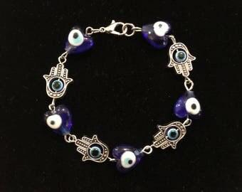 Blue Hand Bracelet