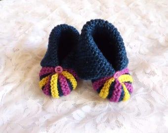 slippers pumpkin for boy or girl knitting pattern