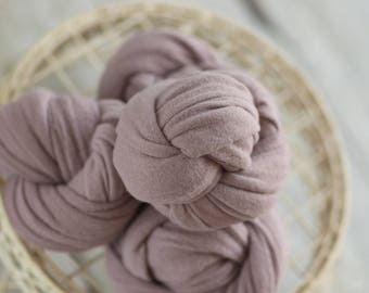 Lavender Stretch Knit Wrap, Purple Stretch Knit Wrap, Newborn Photography Wrap, Newborn Photography Layers - RTS