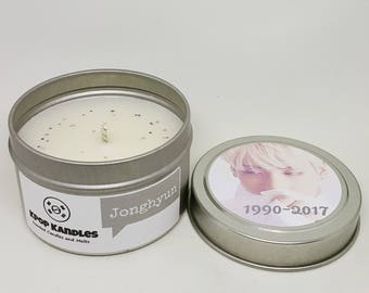 Jonghyun- 4OZ- Scented Candle- Shinee- Kpop- Kpop Gift- Kpop Merch- Shawol- Soy Candle- Korean- Hallyu