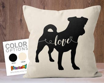 Jack Russell Terrier | Girlfriend Gift | Fiancé Gift | Dog Lover Gift | Stuffed Dog Pillow | Decorative Pillow | Best Friend Gift | Pet Gift