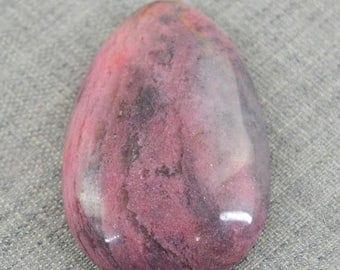 Flat 50% OFF Pear Shape Pink Rhodonite Gem