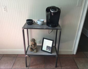 Console metal table w/tile