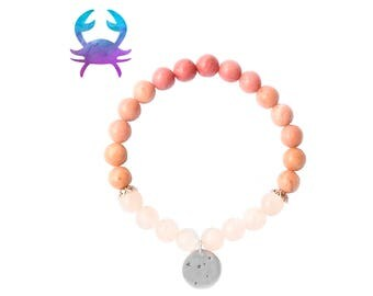 Cancer birthstone bracelet / Star constellation bracelet / Birthstone bracelet / Cancer bracelet / Moonstone bracelet