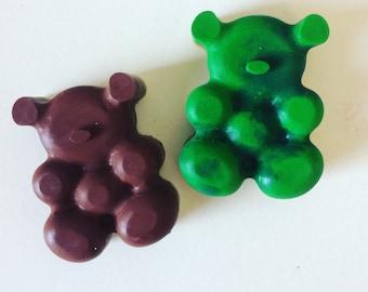Teddy bear crayons
