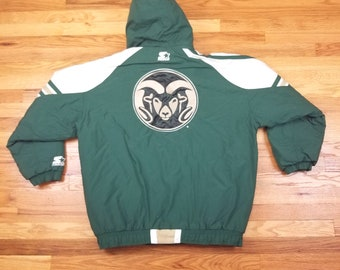 Vintage 90s Colorado Univeristy CU Rams Starter Jacket Size Large L