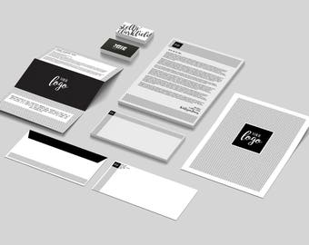 50% OFF -- Modern Business Stationary Set (Illustrator Files, Will Customize)