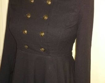 1940s inspired sailor dress.