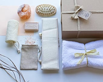 Saltify ® Luxury Himalayan Bath Salt Hamaam Style Home Spa Gift Set