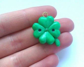 Polymer clay st. Patrick's Day kawaii 4 leaf clover