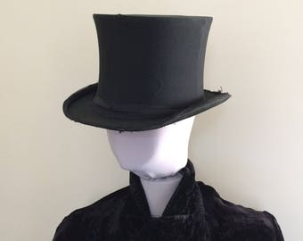Gothic Antique Opera Hat Steampunk Collapsible Top Hat