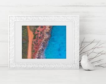 Gantheaume - Digital Download, Drone, Coastal Wall Art, Aerial Photography, Home Decor, Beach Photo, Coastal Print, Printable