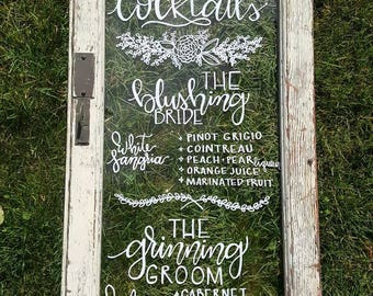 Window Wedding Quote Calligraphy, Rustic Window Frame Quote Art, Window Quote, Calligraphy Windows, Original Windows, Custom Quotes, Wedding