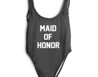 Maid of Honor- Bathing suit, swim suit, one piece