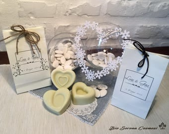 Handmade soaps. Set of 10 party favors. SOAP + custom bag.