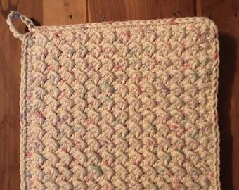 Handmade crochet potholder