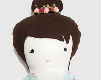 Fabric doll rag doll handmade- Rhyen