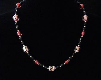 Murano Fuchsia Necklace