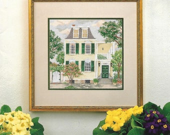 "GRAPHS by BARBARA & CHERYL ""A Splash of Yellow"" - Cross Stitch Pattern - Vintage, Street Scene, Southern Landscape, South Carolina - Used"